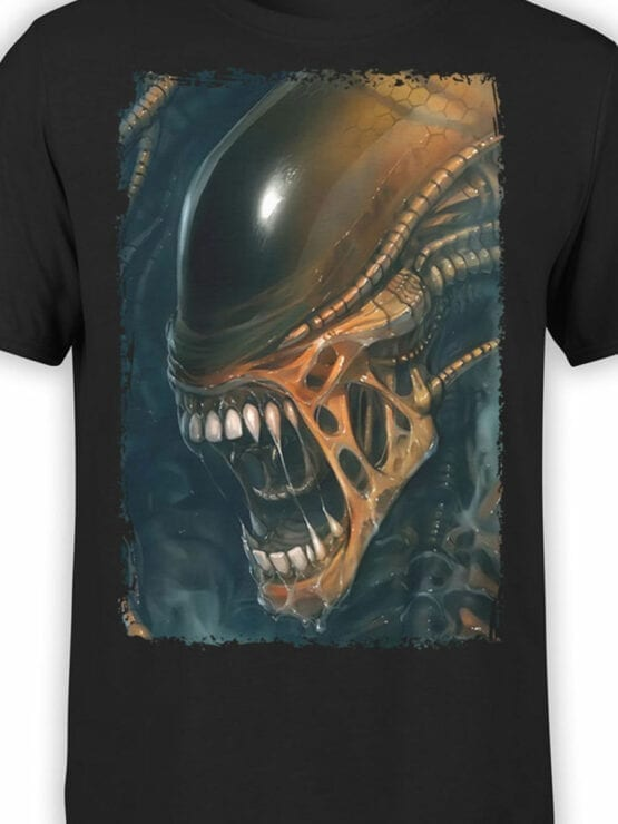 1091 Aliens T Shirt Horror Front Color