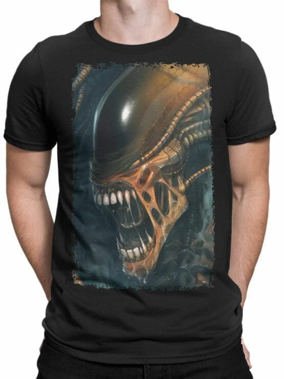 1091 Aliens T Shirt Horror Front Man