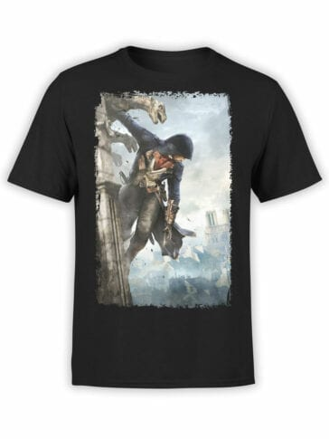 1093 Assassin's Creed T Shirt Notre Dame Front