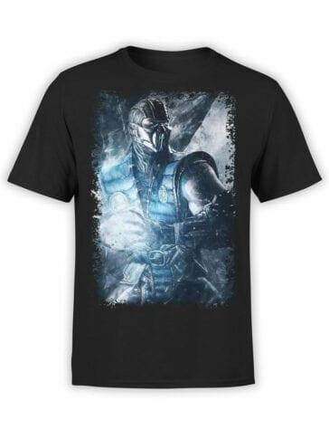 1095 Mortal Kombat T Shirt Sub Zero Front