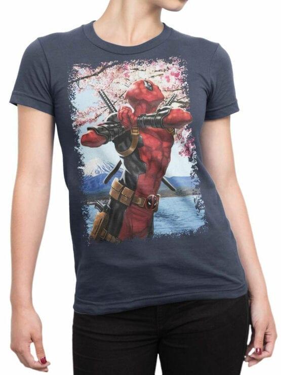 1097 Deadpool T Shirt Haiku Front Woman