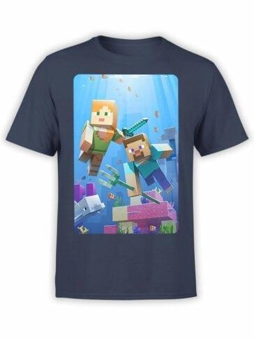 1098 Minecraft T Shirt UnderWater Front