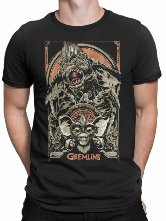 1101 Gremlins T Shirt Both Front Man
