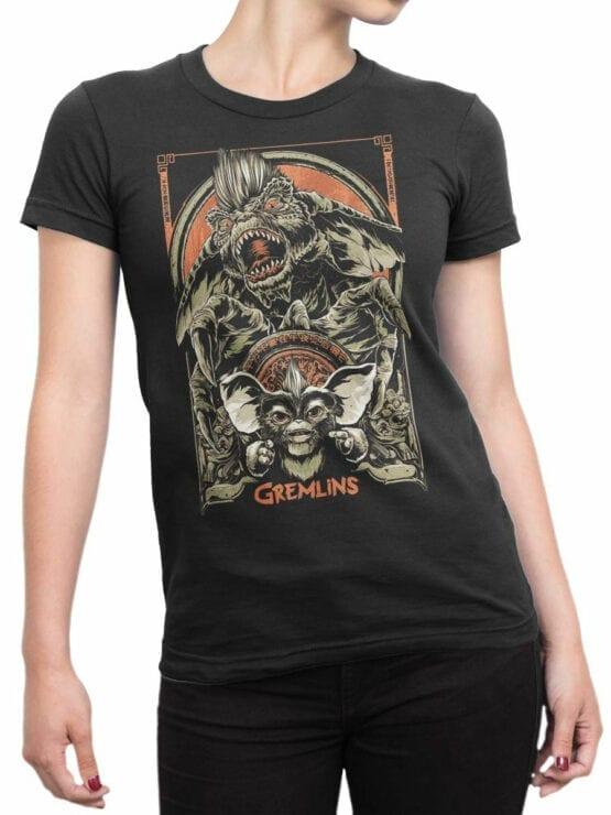1101 Gremlins T Shirt Both Front Woman