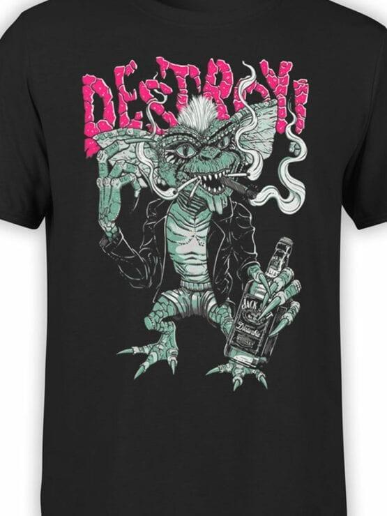 1102 Gremlins T Shirt Smoke Front Color