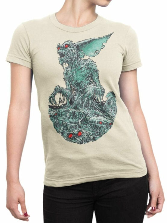 1104 Gremlins T Shirt Monster Front Woman