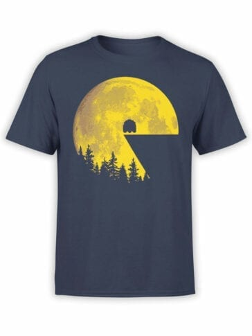 1111 Pac Man T Shirt Moon Front