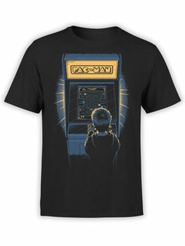 1114 Pac Man T Shirt Retro Front