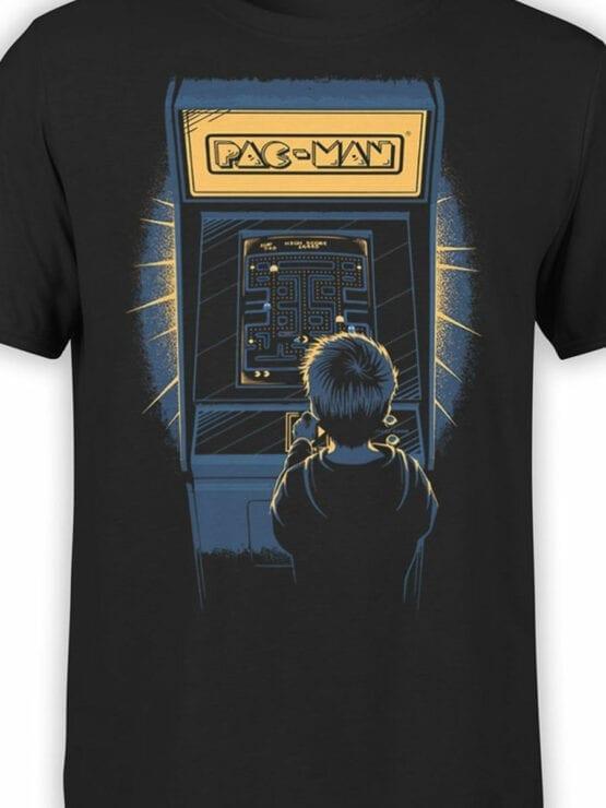 1114 Pac Man T Shirt Retro Front Color