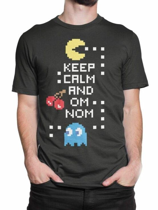 1119 Pac Man T Shirt Keep Calm Front Man 2
