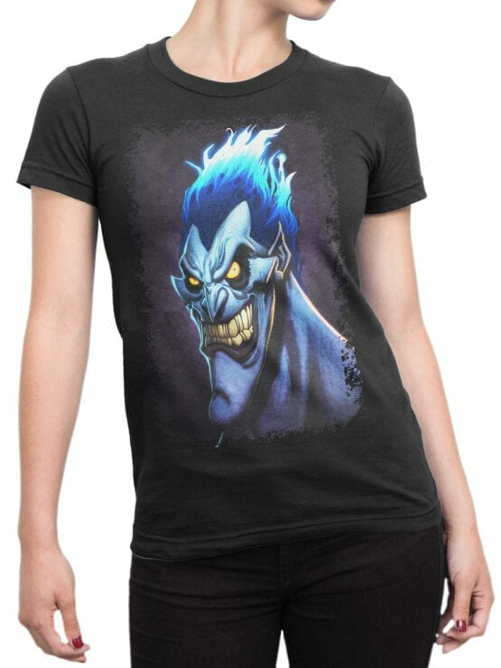 1123 Hercules T Shirt Smile of Hades Front Woman