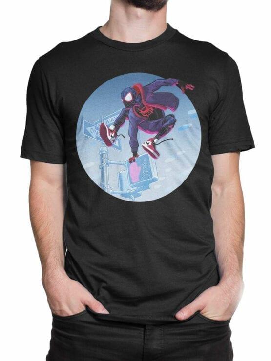 1132 Spider Man T Shirt Jump Front Man 2