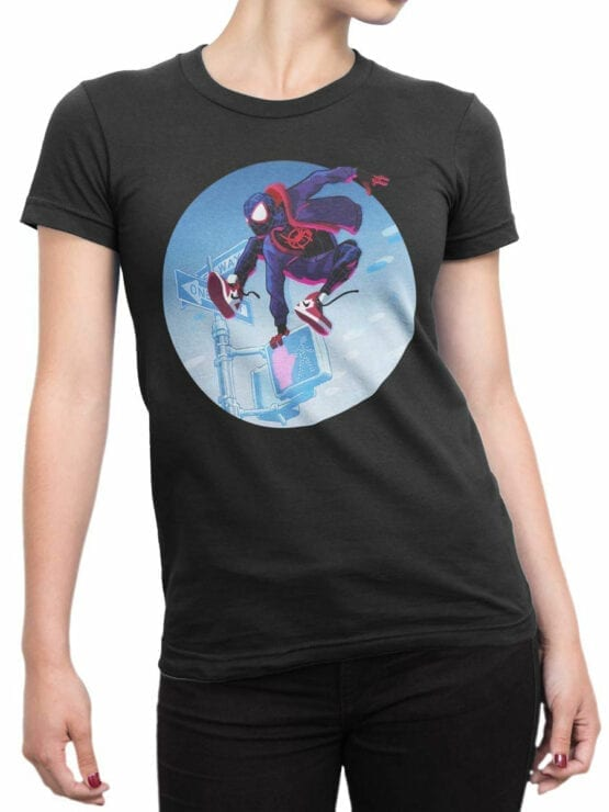 1132 Spider Man T Shirt Jump Front Woman