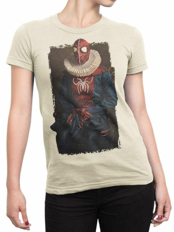 1136 Spider Man T Shirt Portrait Front Woman