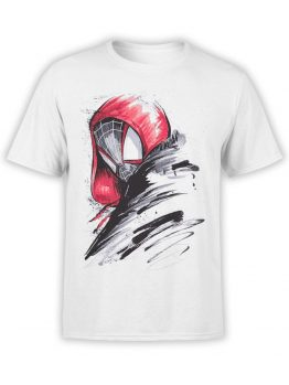 1140 Spider Man T Shirt Draw Front
