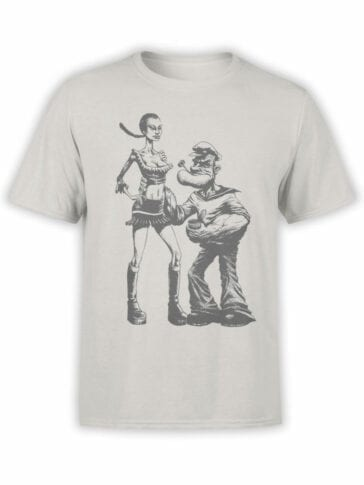 1141 Popeye T Shirt Couple Front