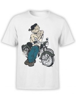 1142 Popeye T Shirt Bike Front