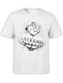 1145 Popeye T Shirt Tattoo Front