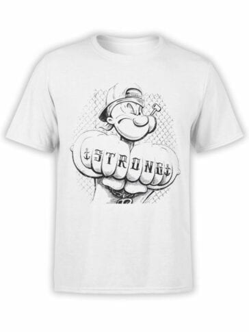 1145 Popeye T Shirt Tattoo Front