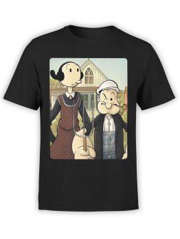 1146 Popeye T Shirt Gothic Front