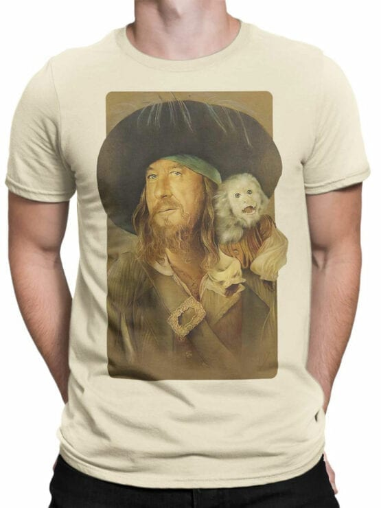 1151 Pirates of the Caribbean T Shirt Hector Barbossa Front Man