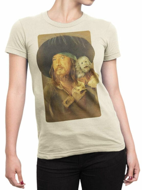 1151 Pirates of the Caribbean T Shirt Hector Barbossa Front Woman
