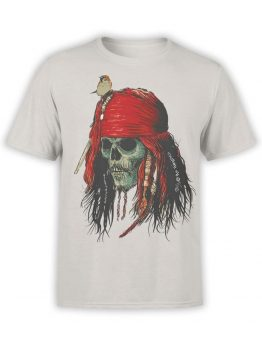 1156 Pirates of the Caribbean T Shirt Skull Front