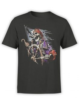 1158 Pirates of the Caribbean T Shirt Skeleton Front