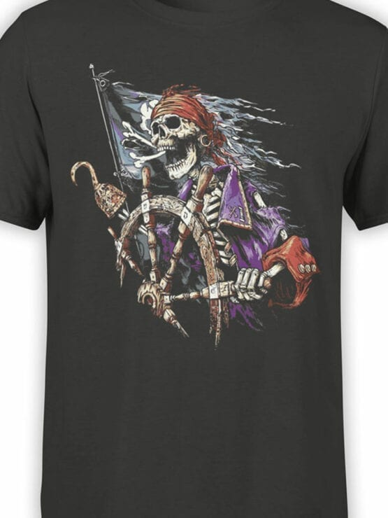 1158 Pirates of the Caribbean T Shirt Skeleton Front Color