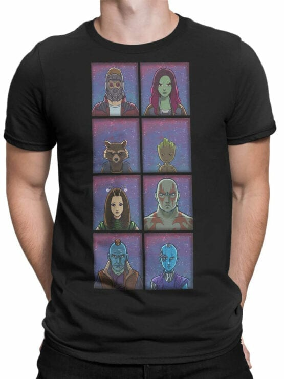 1171 Guardians of the Galaxy T Shirt Characters Front Man
