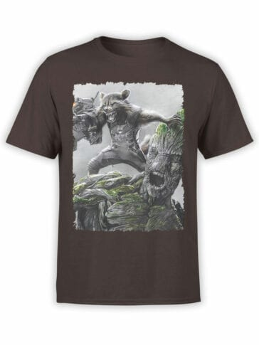 1174 Guardians of the Galaxy T Shirt Battle Front