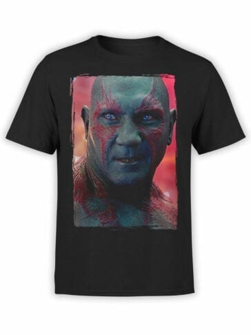 1175 Guardians of the Galaxy T Shirt Drax the Destroyer Front
