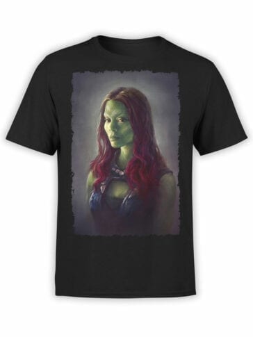 1176 Guardians of the Galaxy T Shirt Gamora Front