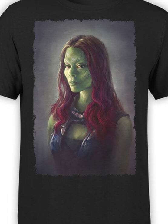 1176 Guardians of the Galaxy T Shirt Gamora Front Color