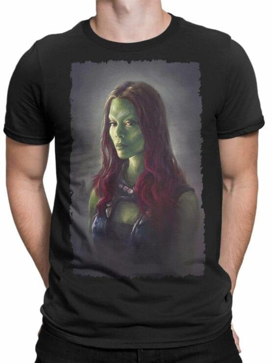 1176 Guardians of the Galaxy T Shirt Gamora Front Man