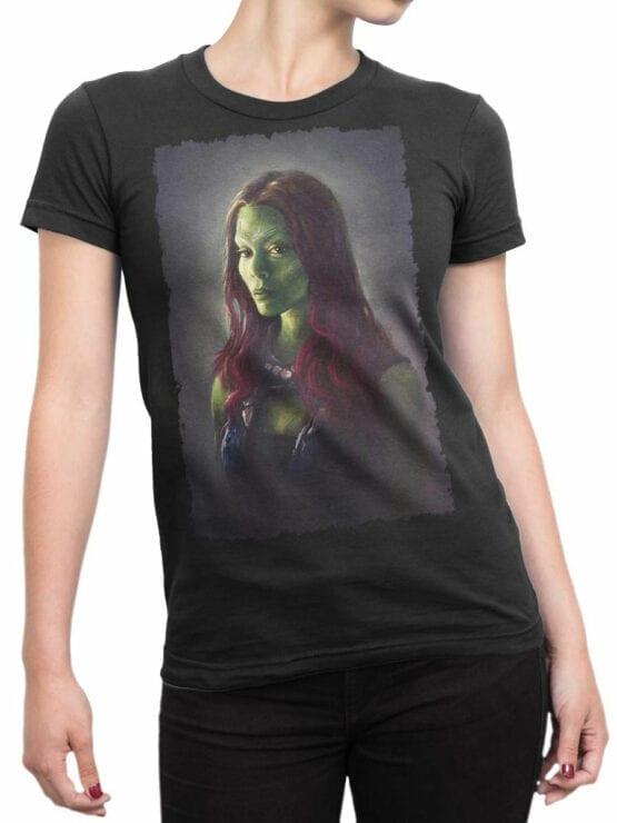 1176 Guardians of the Galaxy T Shirt Gamora Front Woman
