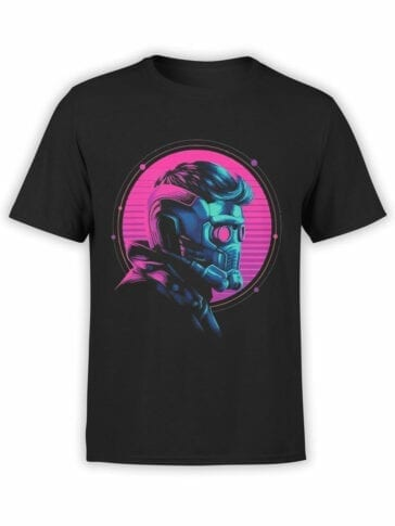 1177 Guardians of the Galaxy T Shirt Star Lord Helmet Front
