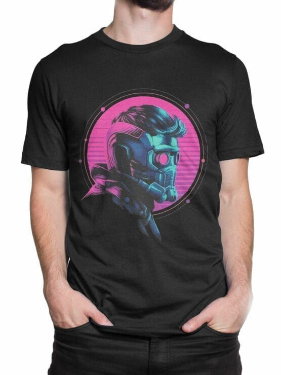 1177 Guardians of the Galaxy T Shirt Star Lord Helmet Front Man 2