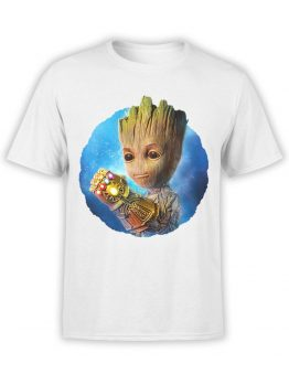 1178 Guardians of the Galaxy T Shirt Thanos Groot Front