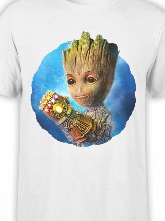 1178 Guardians of the Galaxy T Shirt Thanos Groot Front Color