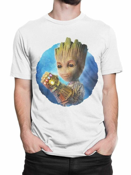 1178 Guardians of the Galaxy T Shirt Thanos Groot Front Man 2