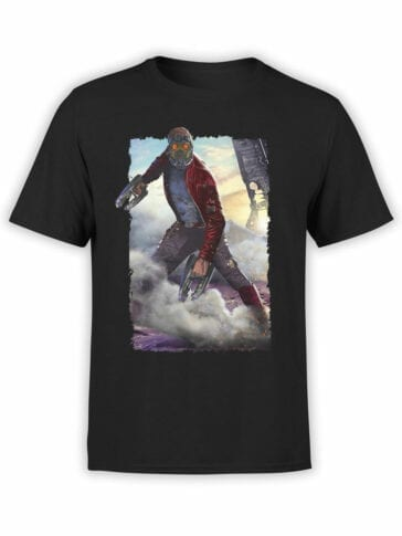 1179 Guardians of the Galaxy T Shirt Star Lord Front