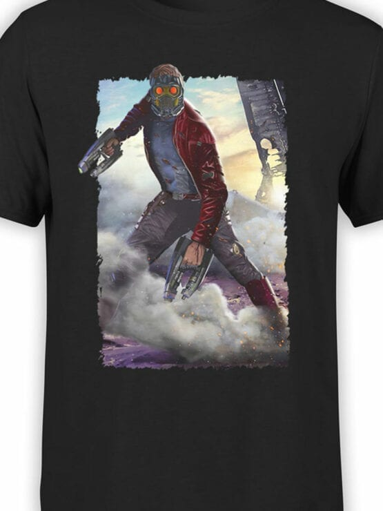 1179 Guardians of the Galaxy T Shirt Star Lord Front Color
