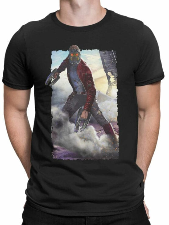 1179 Guardians of the Galaxy T Shirt Star Lord Front Man
