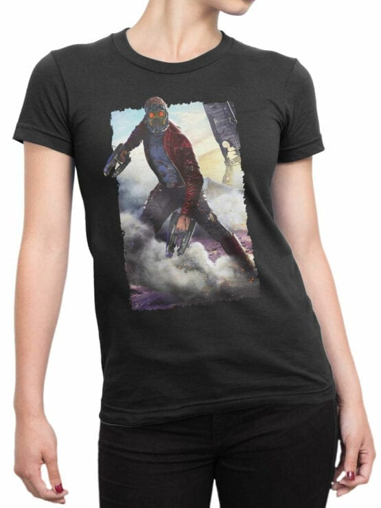 1179 Guardians of the Galaxy T Shirt Star Lord Front Woman