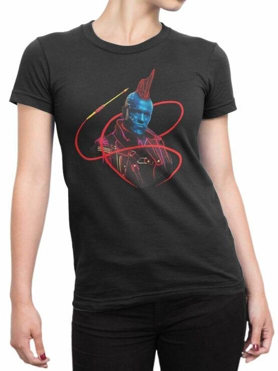 1180 Guardians of the Galaxy T Shirt Yondu Pirate Front Woman