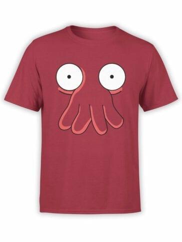 1182 Futurama T Shirt Zoidberg Face Front