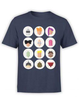 1185 Futurama T Shirt Characters Ico Front