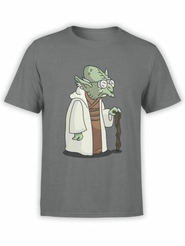 1186 Futurama T Shirt Farnsworth Yoda Front
