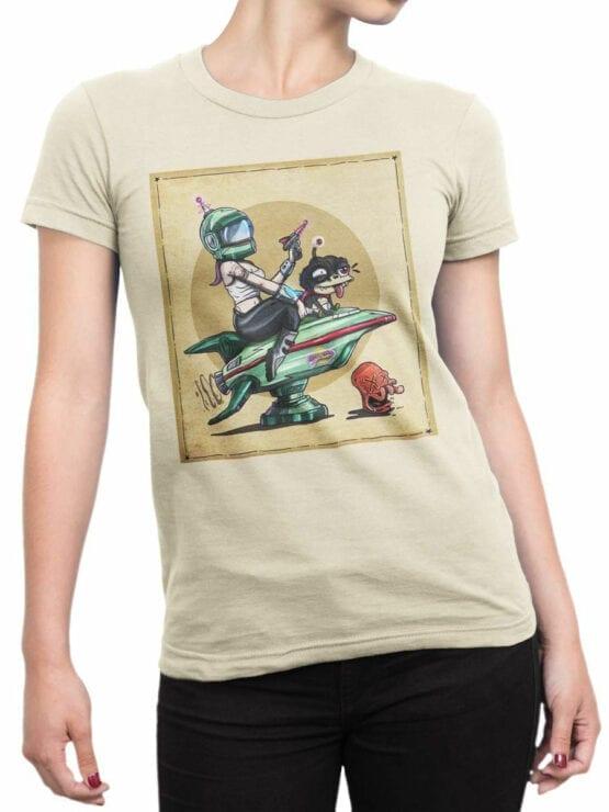1188 Futurama T Shirt Poster Front Woman